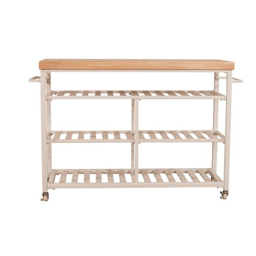 Gallery - Kennon Kitchen Cart - Natural Wood Top