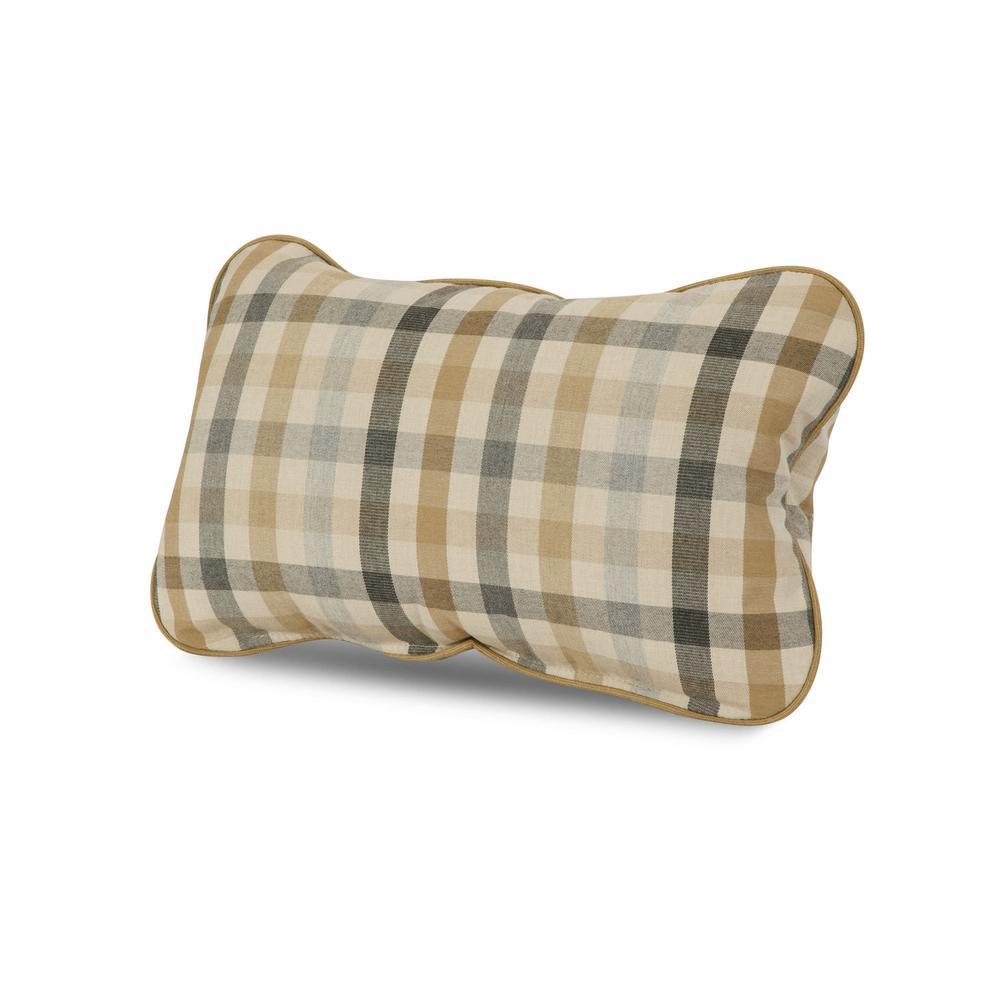 Dune with Sesame Welt Outdoor Lumbar Pillow
