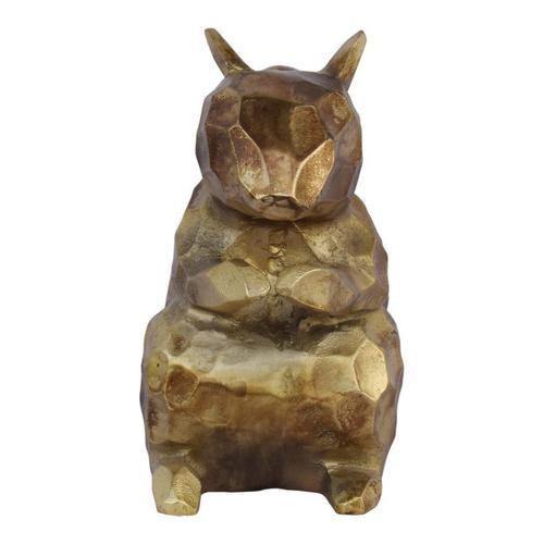 Golden Squirrel Sculpture