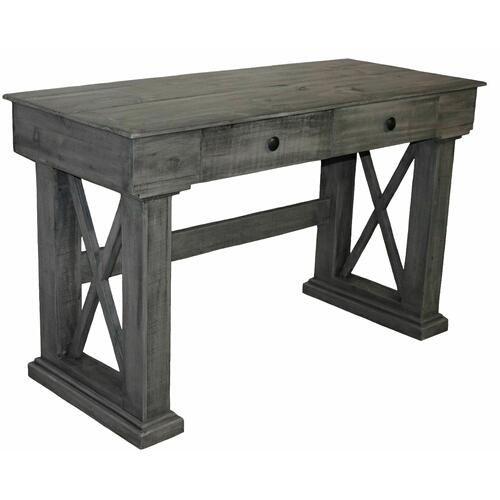 Million Dollar Rustic - Charcoal Gray X Brace Writing Desk
