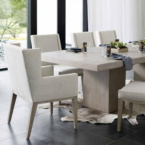 Bernhardt - Linea Upholstered Arm Chair in Cerused Greige (384)