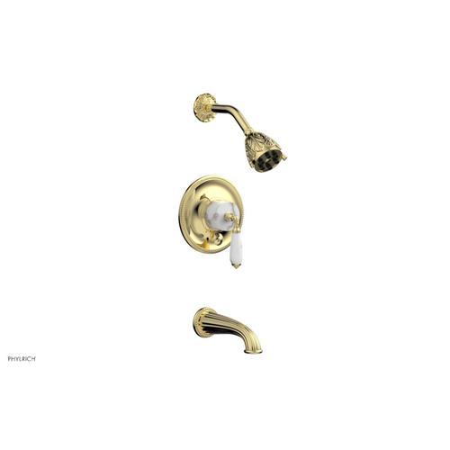 VALENCIA Pressure Balance Tub and Shower Set PB2338B - Polished Brass