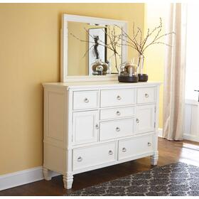 Prentice Bedroom Mirror White