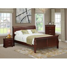 West Furniture Louis Philippe 3 Piece Queen Size Bedroom Set in Phillip Walnut Finish with Queen Bed,Nightstand Chest
