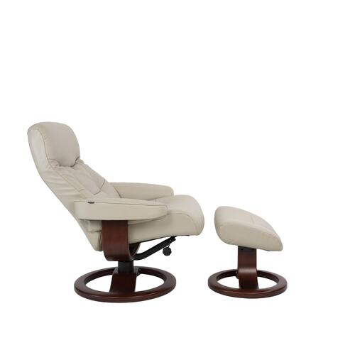 Muldal R Manual Small Recliner With Footstool