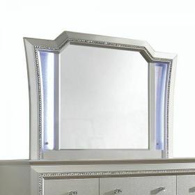 ACME Kaitlyn Mirror - 27234 - LED & Champagne