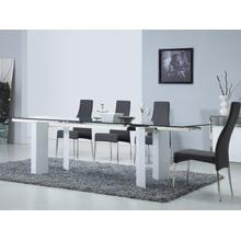 The Torino Extendable High Gloss White Lacquer Dining Tables
