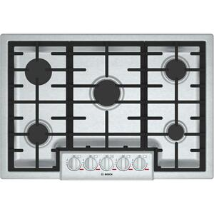 "BoschBENCHMARK SERIESBenchmark 30"" Gas Cooktop, 5 Burners, Stainless Steel"