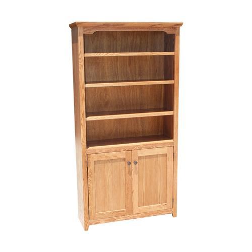 """Shaker Oak 24"""" & 36"""" 2-Door Bookcase"""