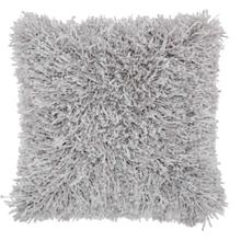 "Shag Tl050 Light Grey 20"" X 20"" Throw Pillow"