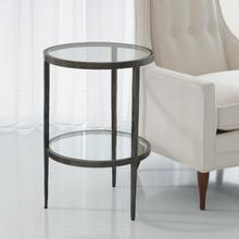 See Details - Laforge Two-Tier Side Table-Braised Brass