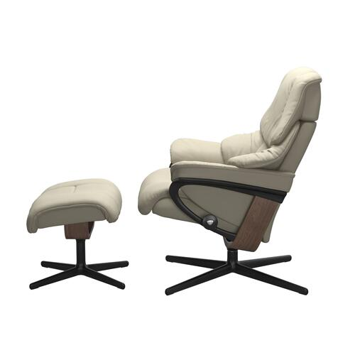 See Details - Stressless® Reno (S) Cross Chair with Ottoman