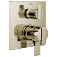Polished Nickel Angular Modern Monitor ® 17 Series Valve Trim with 3-Setting Integrated Diverter