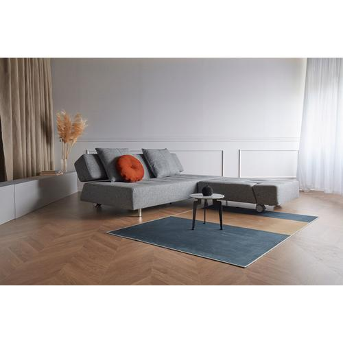 """LONG HORN EXCESS SOFA SEAT/BACK 55""""X79""""/LONG HORN LEGS WITH WHEELS, STEEL/DELUXE CUSHION 22""""X24"""" (1 PC)/ISTYLE DELUXE CUSHIONS, 60-65, 1 SET"""