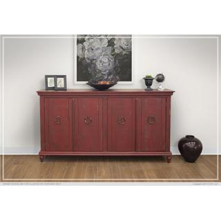 See Details - Console w/4 Doors, Red finish