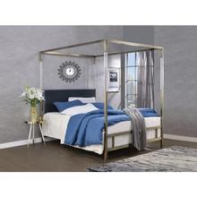 RAEGAN GRAY VELVET QUEEN BED