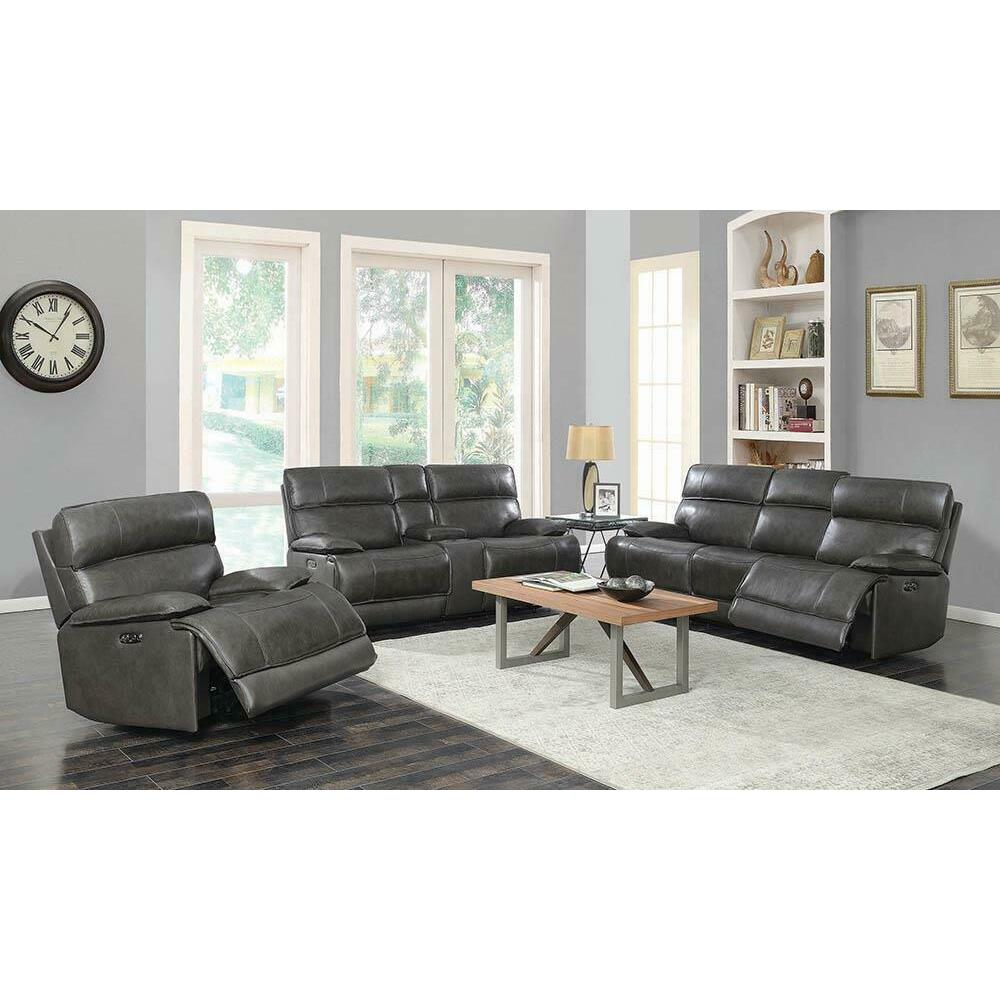 See Details - Stanford Power Sofa and Love seat
