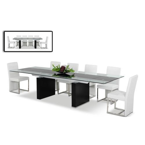 VIG Furniture - Modrest Lisbon - Extendable Glass Dining Table