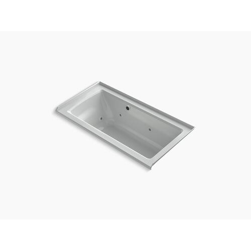 """Ice Grey 60"""" X 30"""" Alcove Whirlpool Bath With Bask Heated Surface, Integral Flange, and Right-hand Drain"""