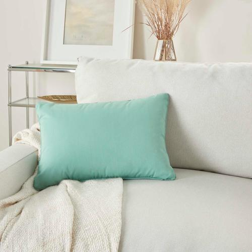"Outdoor Pillows L9090 Aqua 14"" X 20"" Throw Pillow"