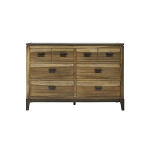 Drawer Dresser - Sepia/Sienna \u0026 Metal Finish