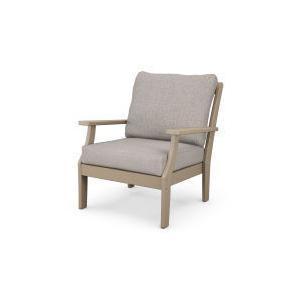 Polywood Furnishings - Braxton Deep Seating Chair in Vintage Sahara / Weathered Tweed