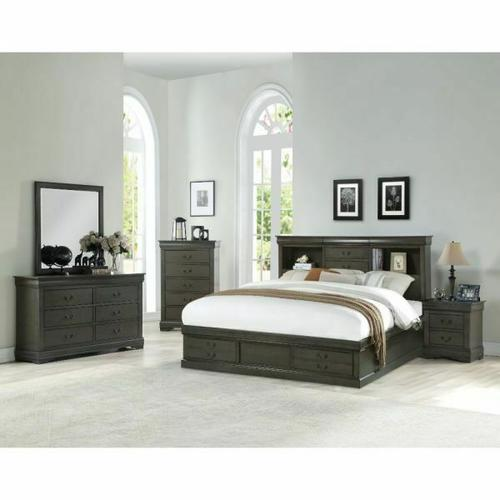 ACME Louis Philippe III Queen Bed - 24930Q - Dark Gray