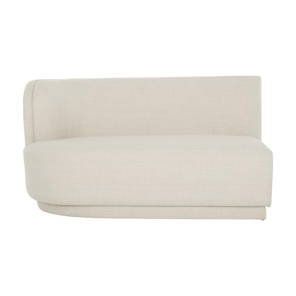 See Details - Yoon 2 Seat Chaise Left Cream