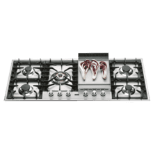 "Stainless Steel with Stainless Steel Trim 48"" - Built -in Gas Cooktop"