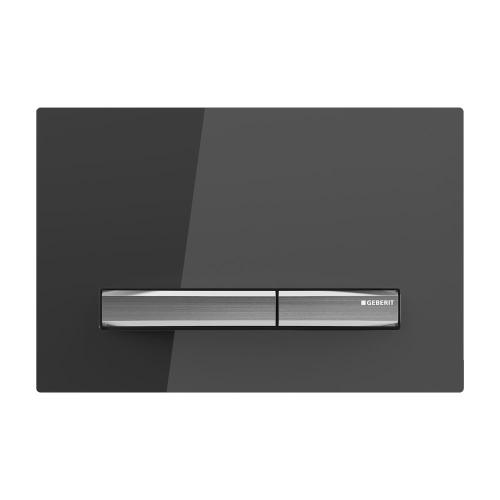 Sigma50 Dual-flush plates for Sigma series in-wall toilet systems Smoked glass Finish