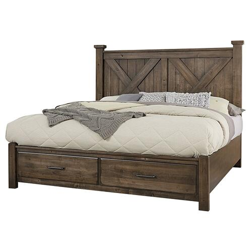 X Bed with Footboard Storage
