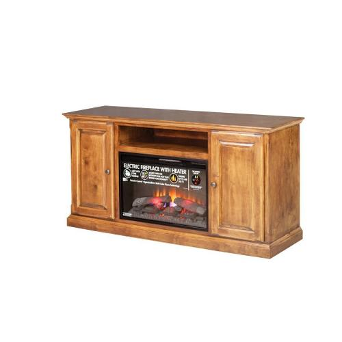Forest Designs - Forest Designs Traditional Alder Fireplace: 60W X 30H X 18D (Black Knobs) - 54w