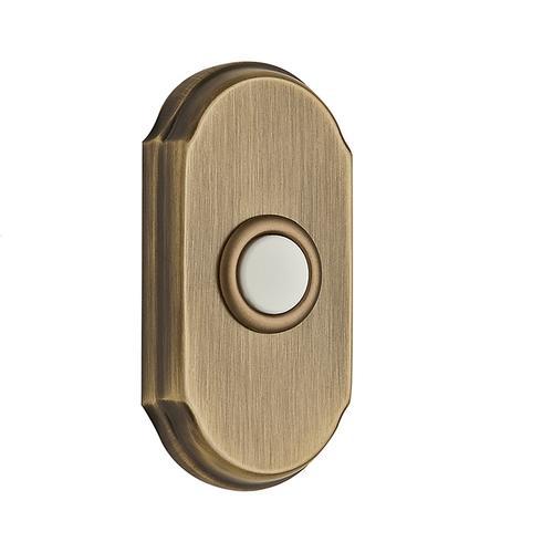 Matte Brass & Black BR7017 Arch Bell Button
