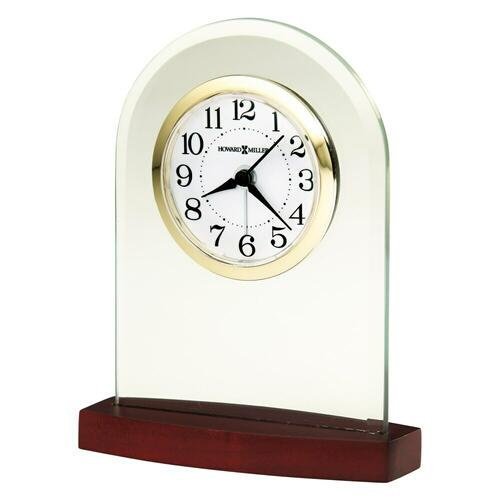 Howard Miller Hansen Brass and Glass Alarm & Table Clock 645715