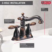 Venetian Bronze Two Handle Centerset Bathroom Faucet