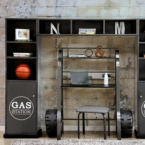 Furniture of America - Royal Racer Storage Shelf, Gun Metal
