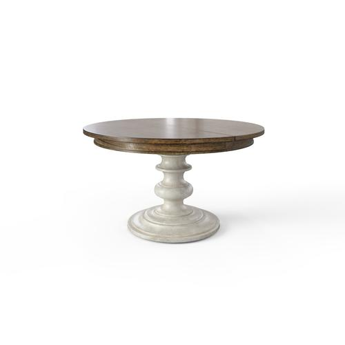 """Hillside 60"""" Round Dining Table - Feather"""