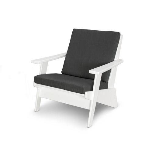 White & Spectrum Carbon Riviera Modern Lounge Chair