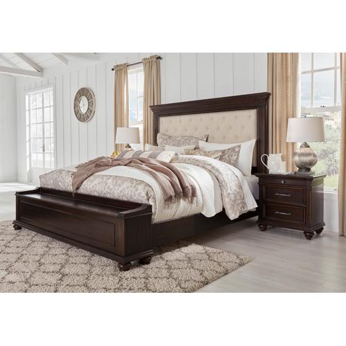 Brynhurst - Dark Brown 3 Piece Bed Set (King)