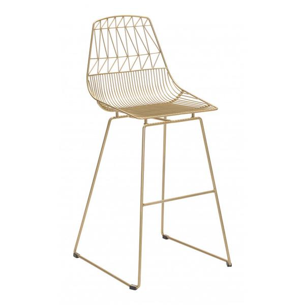 Brody Bar Chair Gold