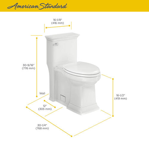 Town Square S Right Height Elongated Toilet with Seat  American Standard - Linen