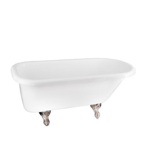 "Anthea 60"" Acrylic Roll Top Tub - Black / White"