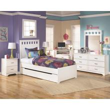 B102 7PC Set: Full Panel Bed, Dresser, Mirror, Chest, Nightstand (Lulu)