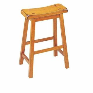 "ACME Gaucho Counter Height Stool (Set-2) - 07305 - Oak - 24"" Seat Height"