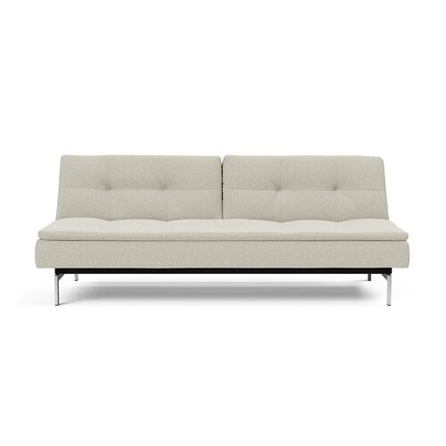"DUBLEXO SOFA, 45""X83""/SP SOFA LEGS, STAINLESS STEEL/BLACK"