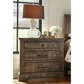 Nightstand - Weathered Gray Finish