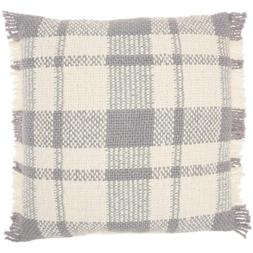 "Kathy Ireland Pillow Sh300 Grey 20"" X 20"" Throw Pillow"
