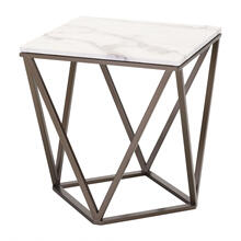 Tintern End Table White & Antique Brass