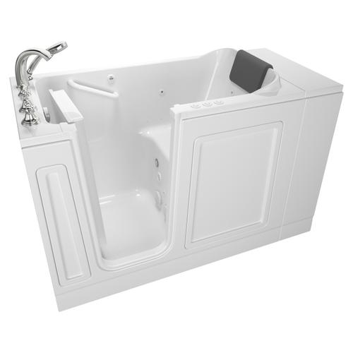 Luxury Series 28x48-inch Left Drain Walk-In Bathtub Combination Massage with Tub Faucet  American Standard - White