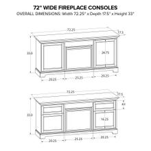 FP72J Fireplace Custom TV Console